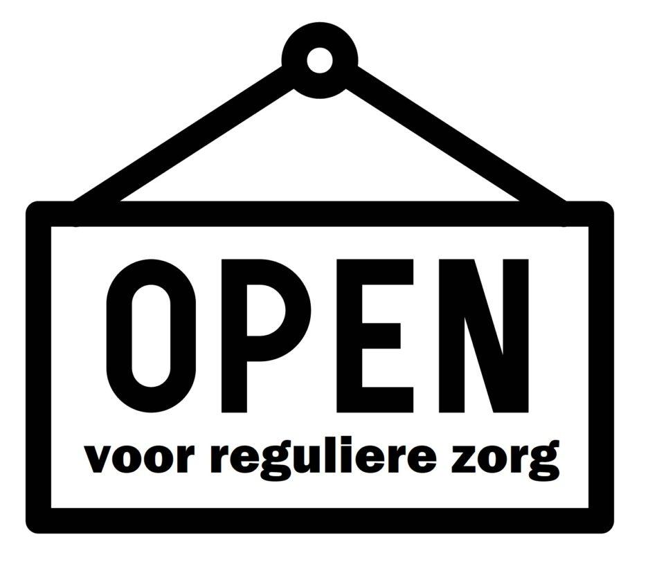 open voor reguliere zorg